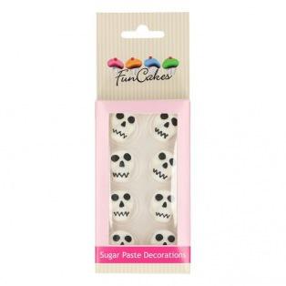 FunCakes Sugar Paste Decorations Skulls Set/8