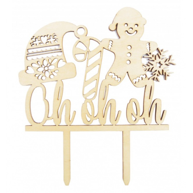 Wood Topper - Oh oh oh - Scrapcooking