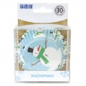 Foil Baking Cups Snowman - 30pcs - PME