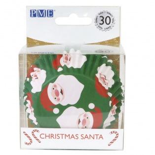 Foil Baking Cups Santa Claus - 30pcs - PME