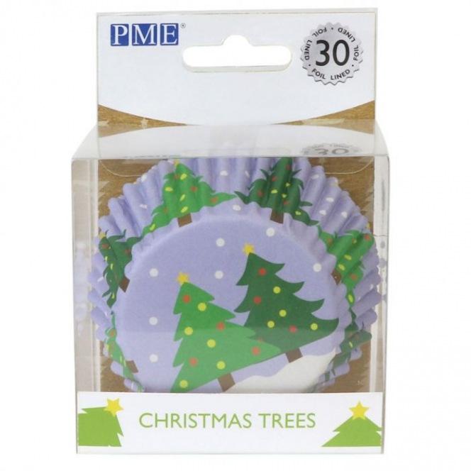 Foil Baking Cups Christmas Trees - 30pcs - PME