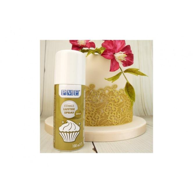 Spray lustrant doré comestible - 100ml - PME