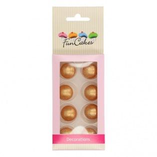Boules en chocolat x8 - or - Funcakes