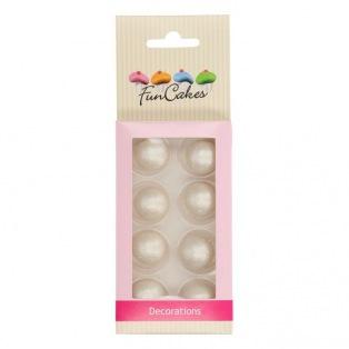 Boules en chocolat 8pcs - perlé - Funcakes