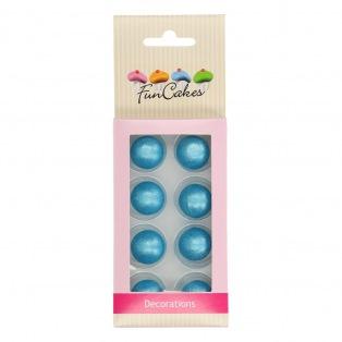 Pearl Choco Balls 8pc - Blue - Funcakes