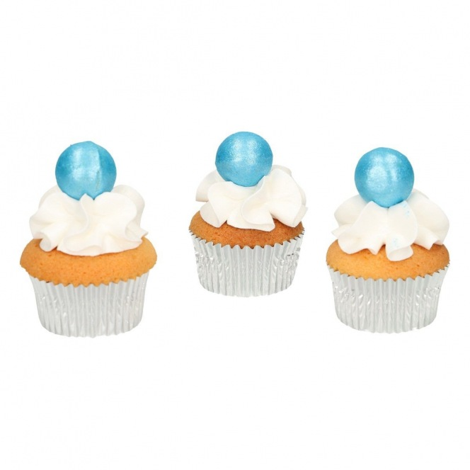 Pearl Choco Balls x8 - Blue - Funcakes