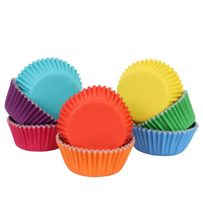 100 Baking Cups - Rainbow Colour - PME