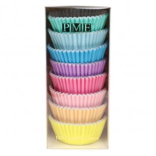 Caissettes à cupcakes - couleurs pastel - 100pc - PME