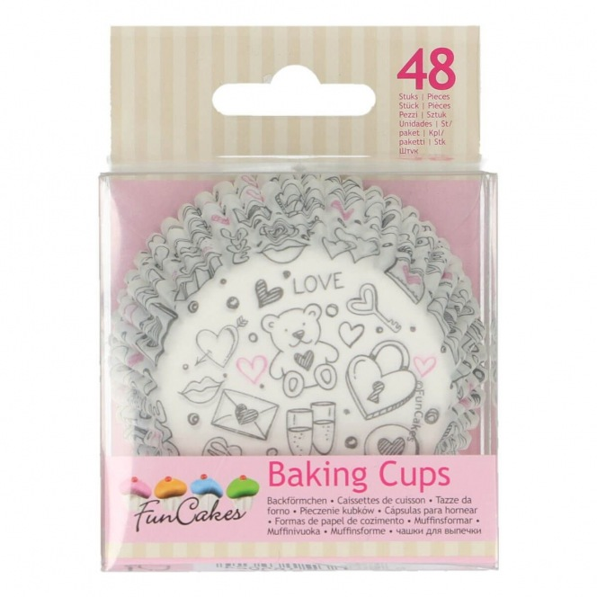 Baking Cups - Doodles - 48pcs - Funcakes