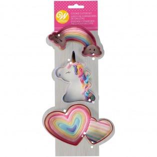 Unicorn Metal Cookie Cutter set - Wilton