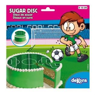 Disque en sucre - Terrain de foot Ø16cm - Dekora