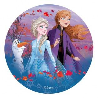 Edible Disc - Frozen II (theme 2) - Dekora