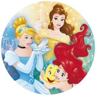 Wafer disk 3 Disney princesses (theme 1) - 20cm