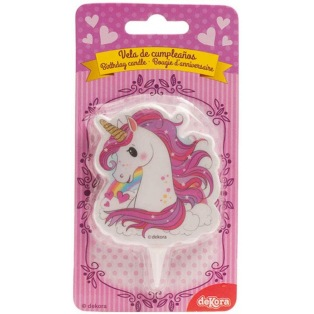 2D Candle Unicorn - Dekora