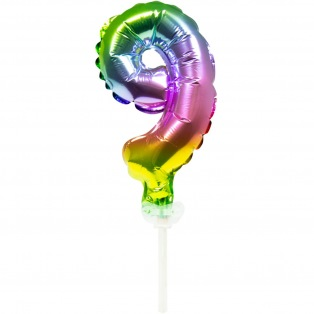 Cake Topper Balloon Number 9 - 13cm - Folat