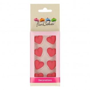 Décors en sucre Coeur rouge 8pc - FunCakes