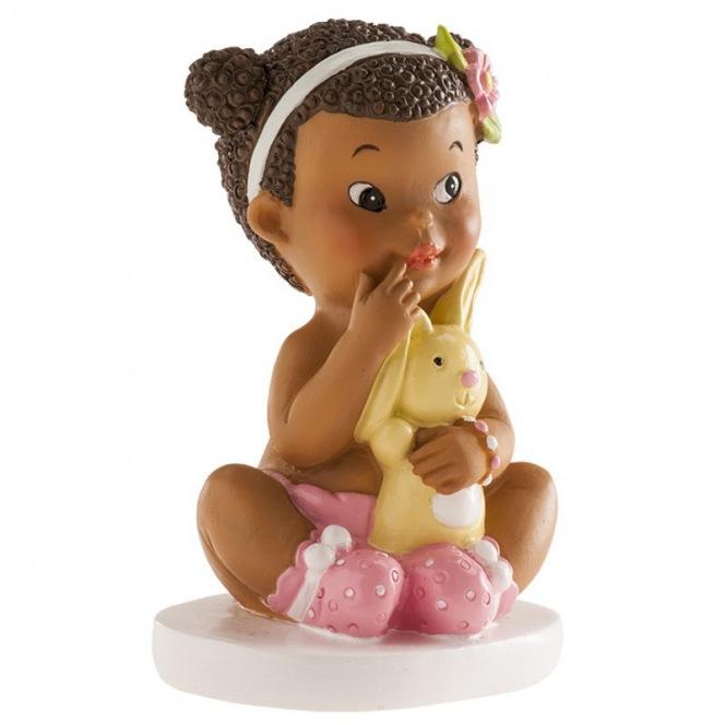 FIgurine fille assise - 10cm - Dekora