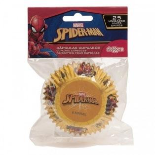 25 Caissettes à cupcakes - Spiderman