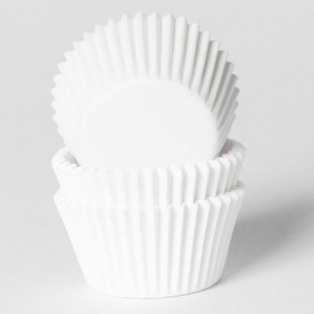 HoM Mini Baking cups White - pk/60