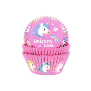 Caissettes à cupcakes Licorne Love - 50pc - HoM