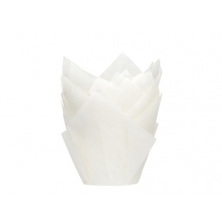 Tulip Baking Cups White pk/36