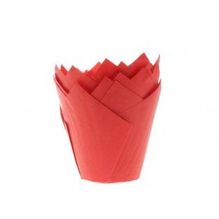36 Caissettes à muffin - Tulipcup Rouge