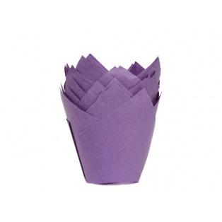 36 Caissettes à muffin - Tulipcup Mauve