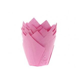 36 Caissettes à muffin - Tulipcup Rose
