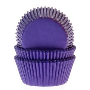 Caissettes à cupcakes - Mauve - 50pc - HoM