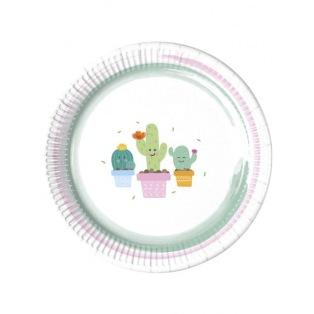 8 paper plates - Cactus