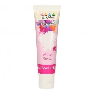 Gel Food Colour White Snow - FunCakes