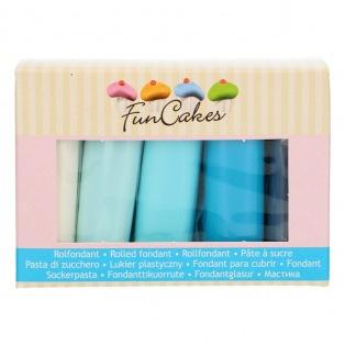 FunCakes Fondant Multipack Blue Colour Palette 5x100g