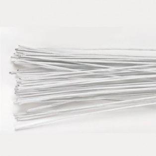 Lot de 50 fils en métal pour fleurs - Blanc - 0,40 mm - Culpitt