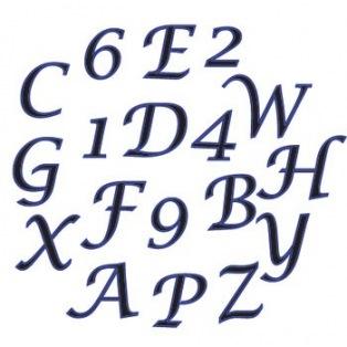 Set lettres majuscules cursives et chiffres - FMM