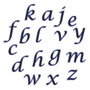 Set de lettres minuscules cursives - FMM