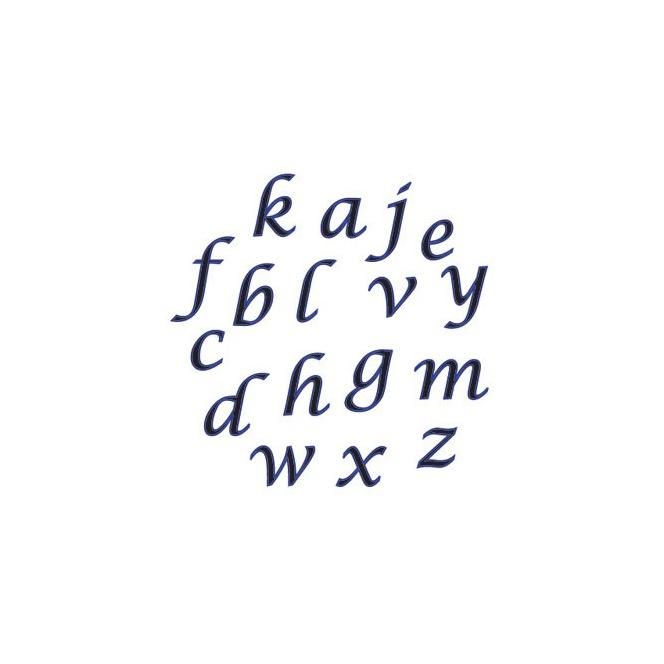 Ensemble de lettres majuscules cursives - FMM