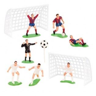 Goal de foot et joueurs - 5/6cm - Dekora