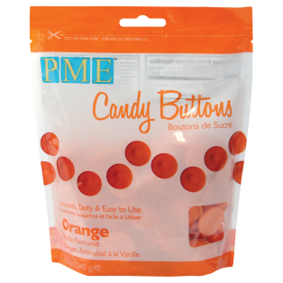 Candy Buttons - Orange - PME - 340g