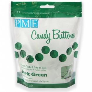 Candy Buttons - Vert foncé - PME - 340g