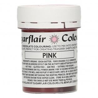 Colorant chocolat - Rose - 35g Sugarflair