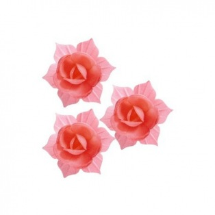 DBS - Red and Pink Daffodils 9pcs - 45mm
