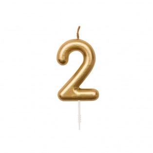Birthday Candle - Golden n2 - Rico Design Yey