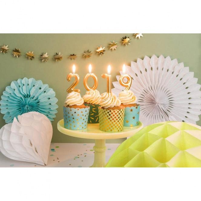 bougie d'anniversaire - chiffre 2 doré - Rico Design Yey