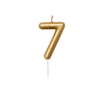 Verjaardag kaars - N  7 goud - Rico Design yey