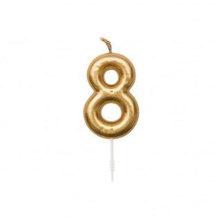 Birthday Candle - Golden n8 - Rico Design Yey