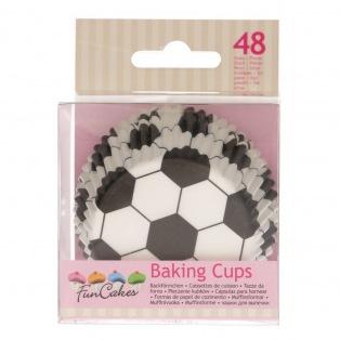 Caissettes à cupcakes - Football - 48pc - FunCakes