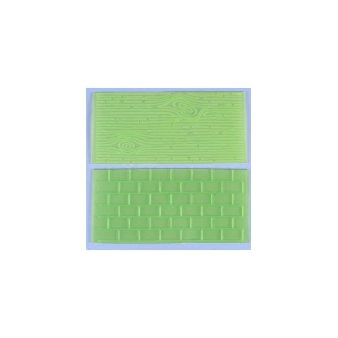 Impression Mat - Nervures d'arbres et Briques