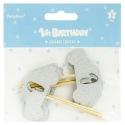 Cupcake Toppers - Car 1 Year old 6pcs - PartyDeco