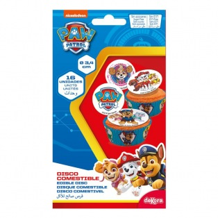 Edible disc for Paw Patrol cupcakes