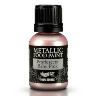 Peinture métallisée - Baby Pink (rose bébé) nacré- Rainbow dust